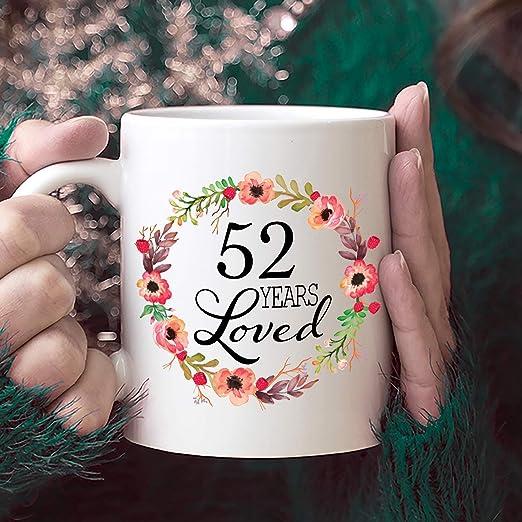 52 cumpleaños regalos para mujer regalo para 52 años de edad ...