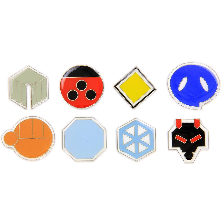 amazon com pokemon gym badges gen 2 johto league clear