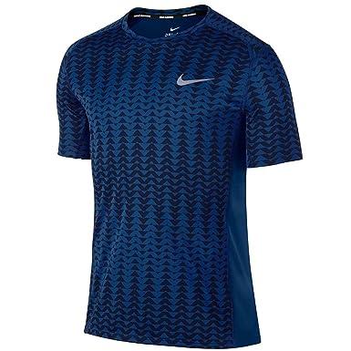 MEN'S DRY MILER RUNNING TOP BINARY BLUE/PARAMOUNT BLUE 2017 Nike:  Amazon.co.uk: Sports & Outdoors