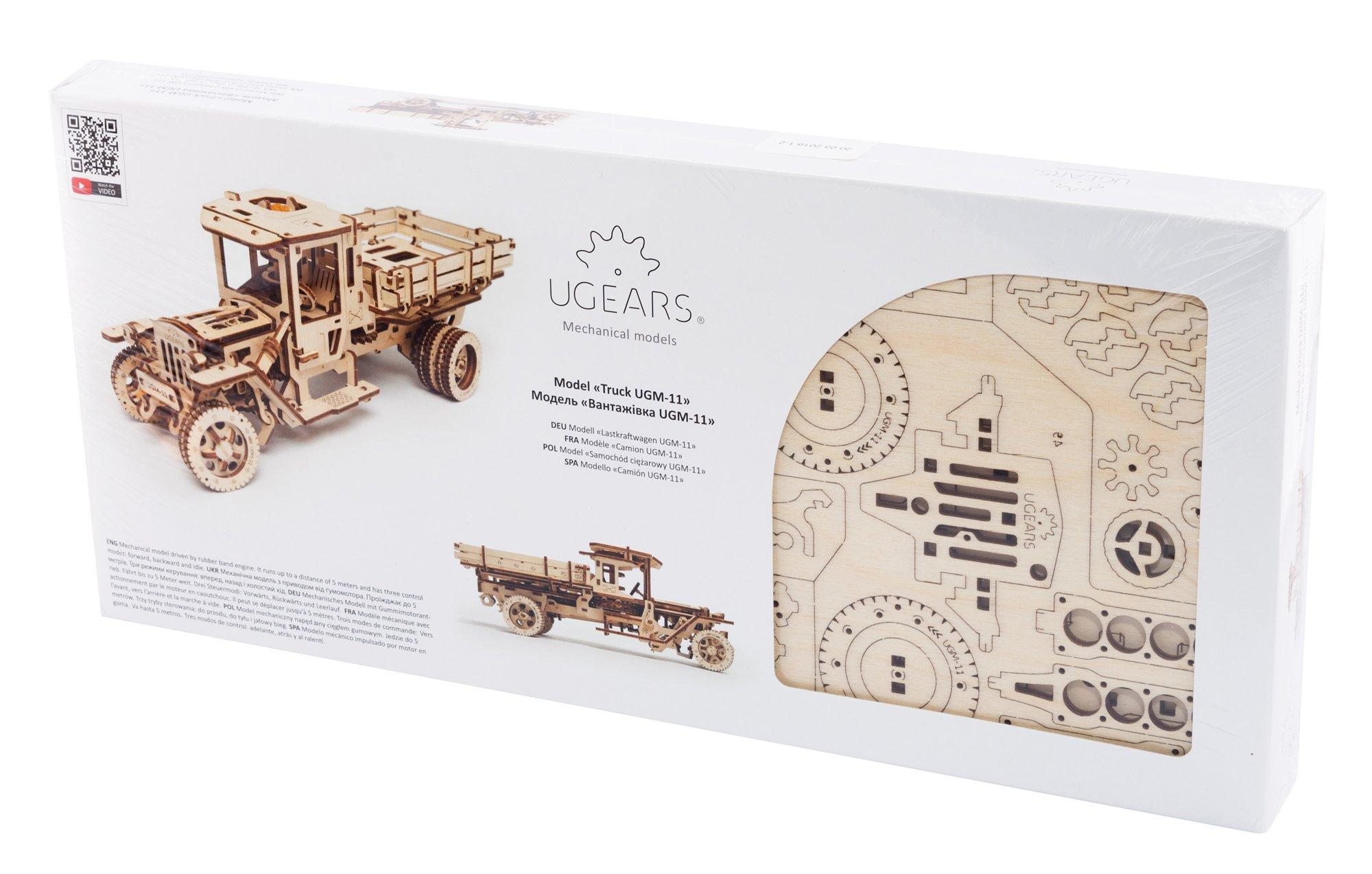 S.T.E.A.M. Line Toys UGears Mechanical Models 3-D Wooden Puzzle - Mechanical 11 Truck 1920's Model T 4