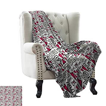 Outstanding Amazon Com Puppy Blanket Love Graffiti Style Love Word With Theyellowbook Wood Chair Design Ideas Theyellowbookinfo