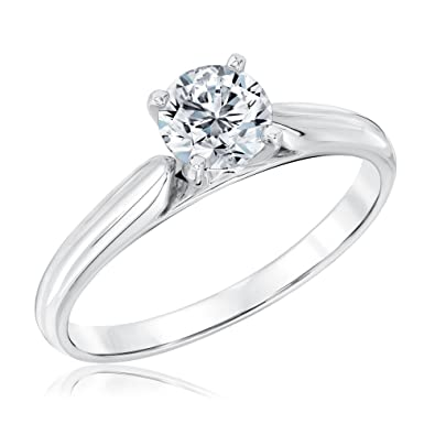 Heritage Round Diamond Solitaire Engagement Ring with GSI Grading ...