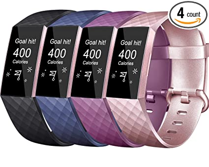 Amazon com : Tobfit Sport Bands Compatible for Fitbit Charge 3 and