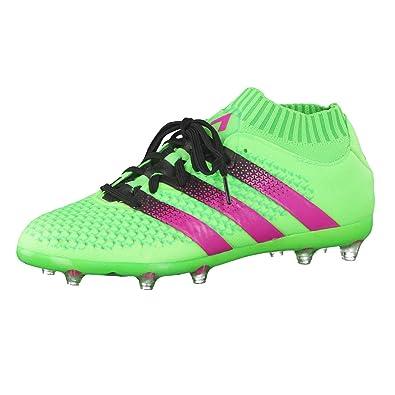 new product 3ac30 37216 adidas Ace 16.1 Primeknit FGAG J, Chaussures de Football Mixte Bébé, Vert