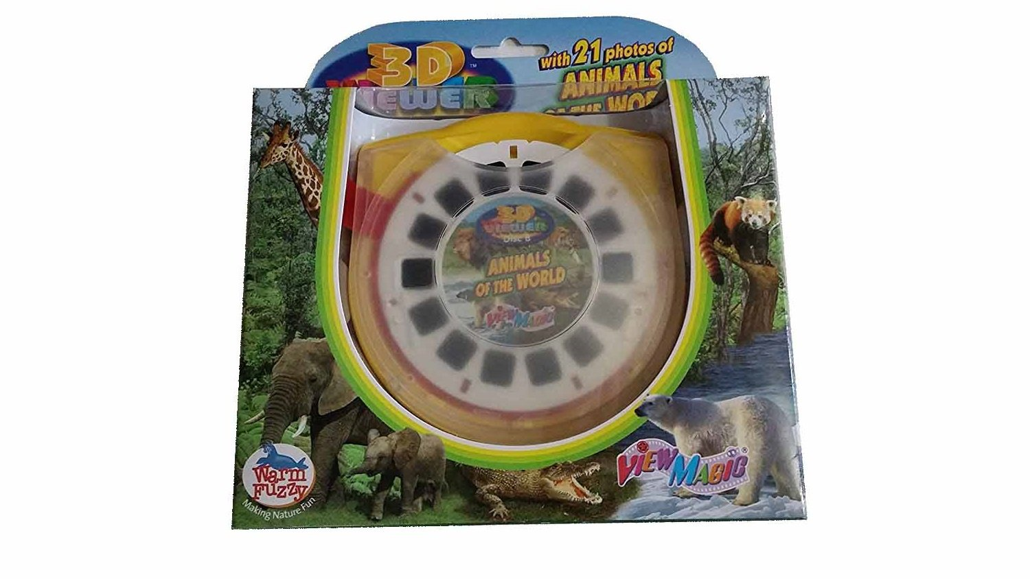 21 Animals of the world 3D Viewer, View master, 3 interchangeable discs