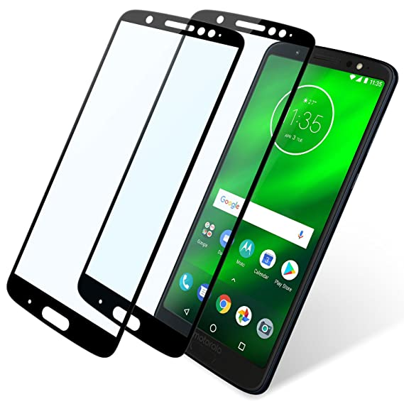 big sale 99913 c2348 Moto G6 Plus Screen Protector Full Coverage, 2 Pack Niyattn Tempered Glass  Screen Protector for Moto G6 Plus 5.9 inch with Double Shielding/Bubble ...