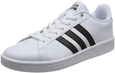 adidas Herren Cloudfoam Advantage Sneaker Ftwwht/Ftwwht/Cburgu