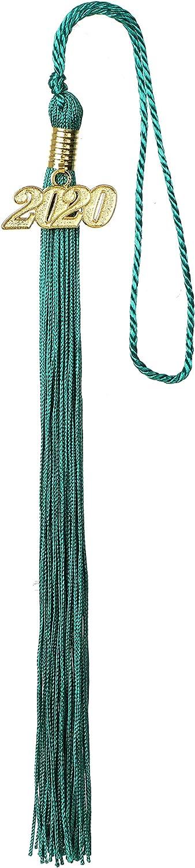 Newrara Graduation Tassel with Year Charm 9-inch Color1-Black