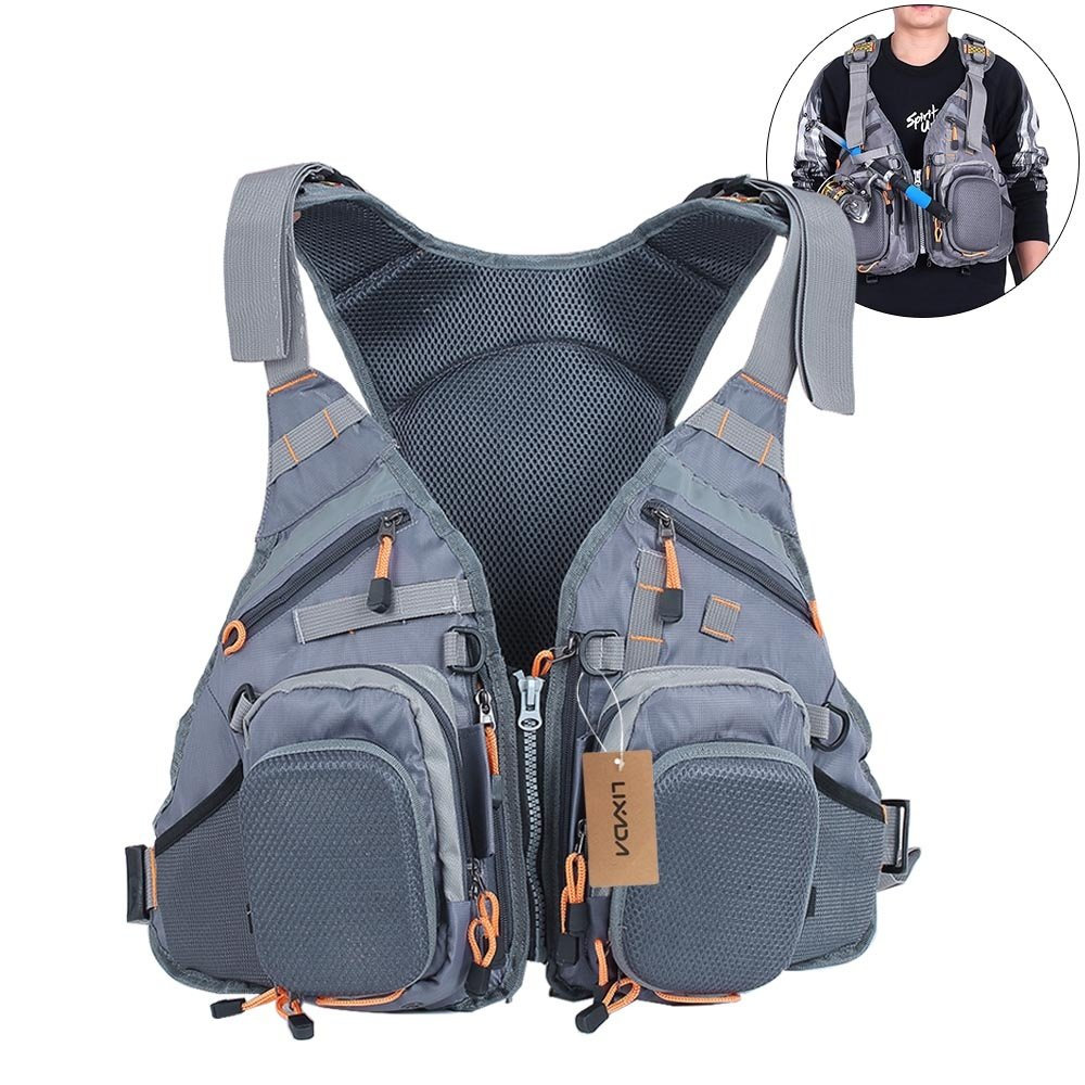 Lixada Fly Fishing Vest - 3 in 1 Fishing Backpack for Fishing Gear and Tackle Fisherman Utility Vest, Breathable Mesh Design & Adjustable Size