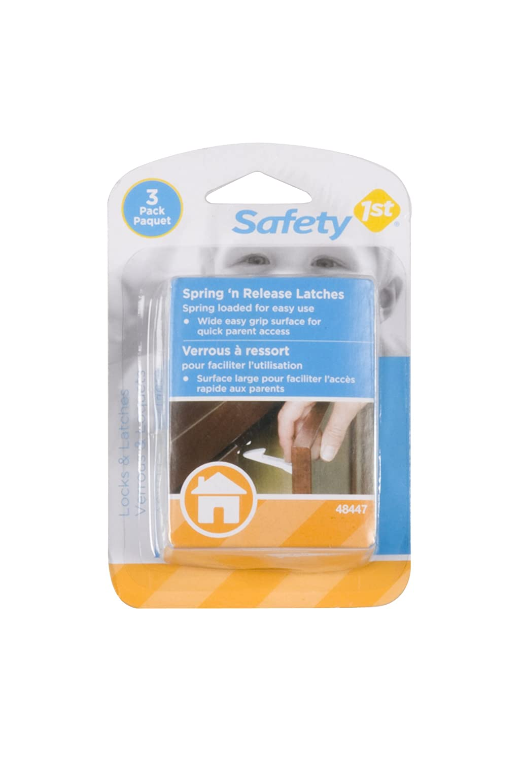 Amazon.com : Safety 1st 3 Pack Spring n' Release Latch : Cabinet ...
