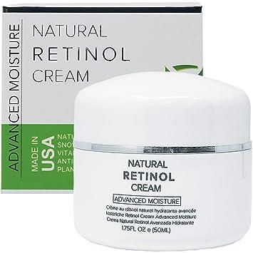 Retinol Cream Moisturizer for Face & Eye Area - 100% PURE & NATURAL With  Snow Algae, Vitamins,