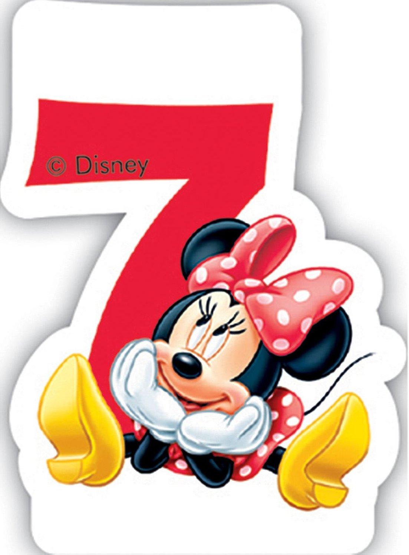 número 7 Vela * * Minnie Mouse para niños Cumpleaños/Fiesta ...