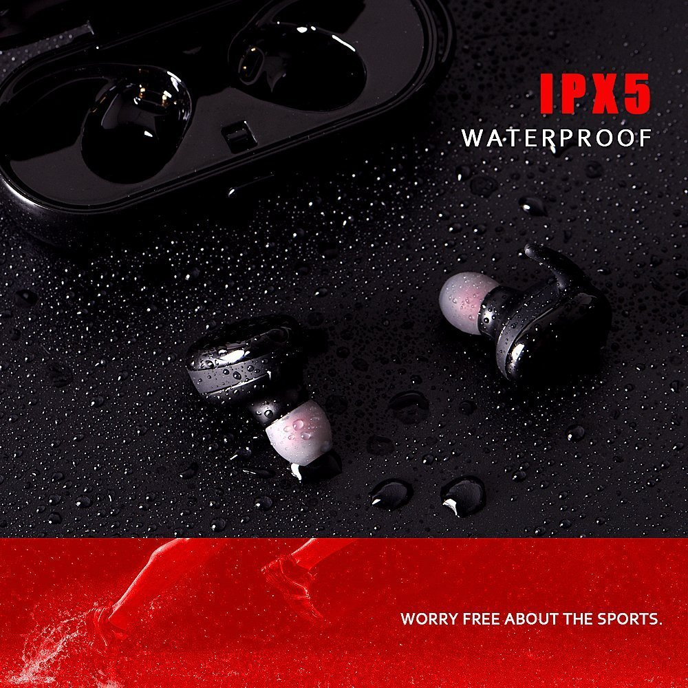 Wireless Earphones, Bluetooth headphones with Mic, Sport earbuds Waterproof