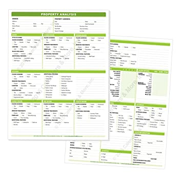 Amazon.com : Real Estate Property Analysis Pad - A Complete ...