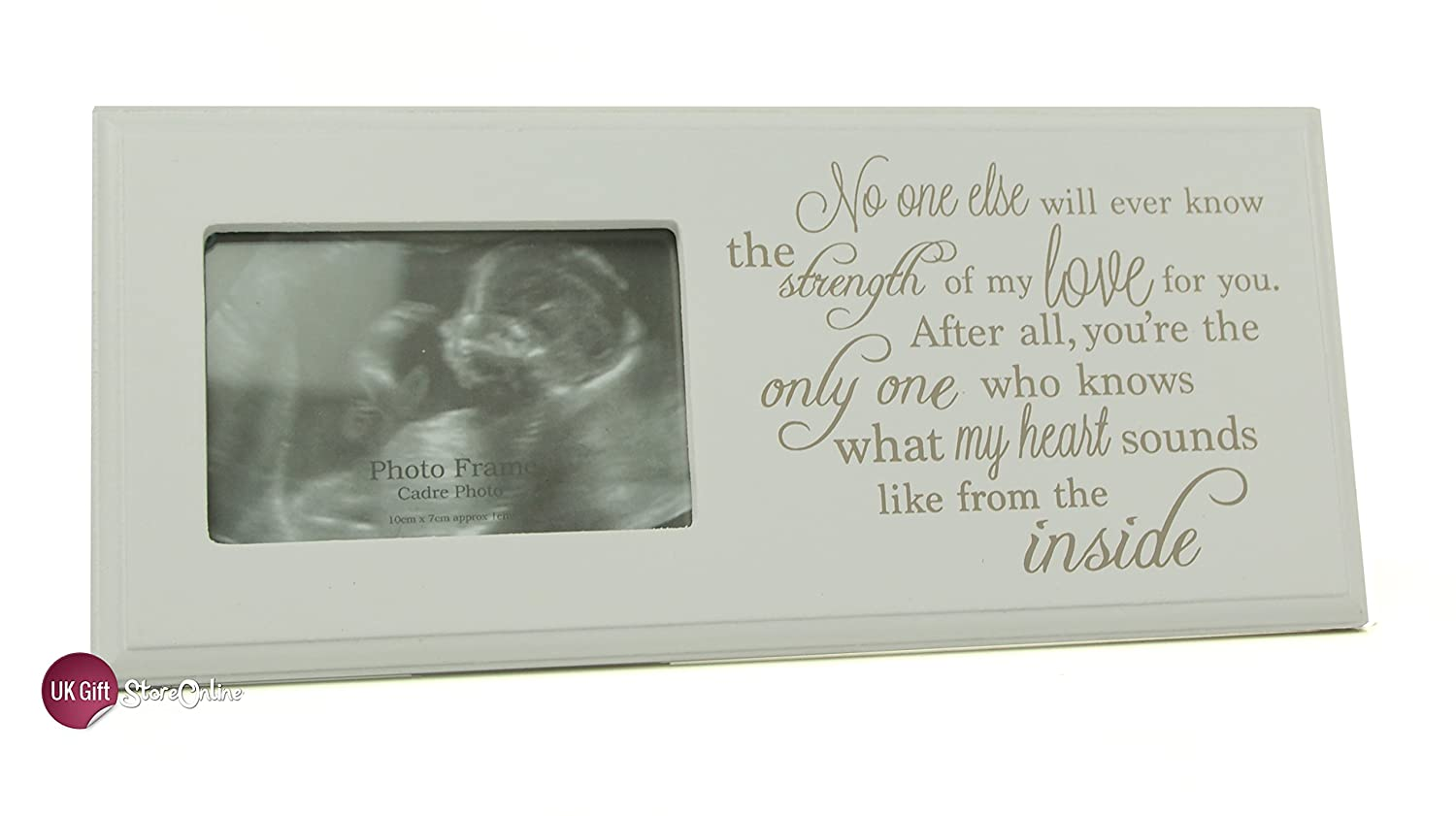 Baby Scan Photo Frame Plaque Gift With Sentimental Verse by ...