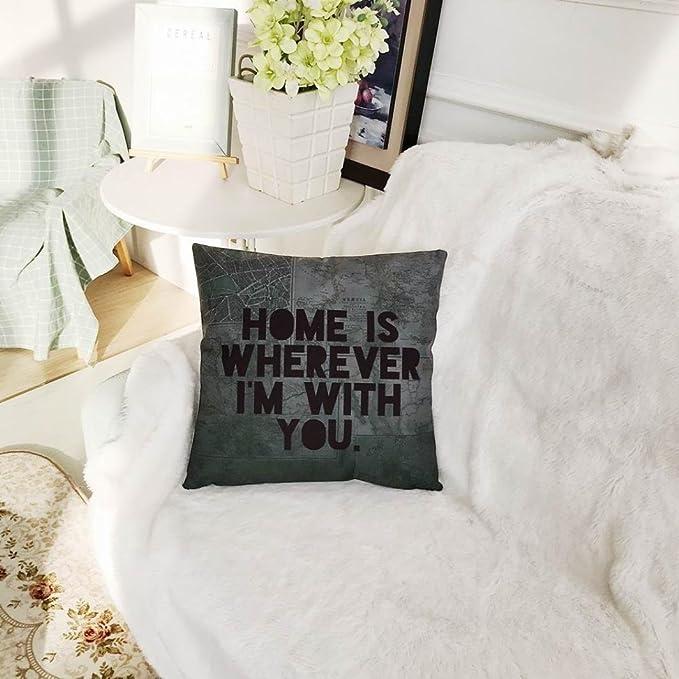 Amazon.com: DICPOLIA Cotton Linen Cushion Cover Cozy Home ...