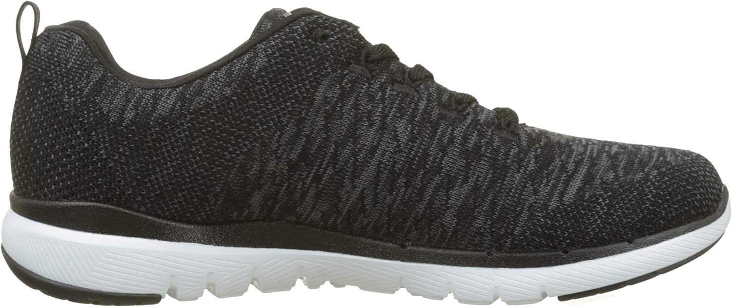 Skechers Flex Appeal 2, Baskets Basses Femme Black