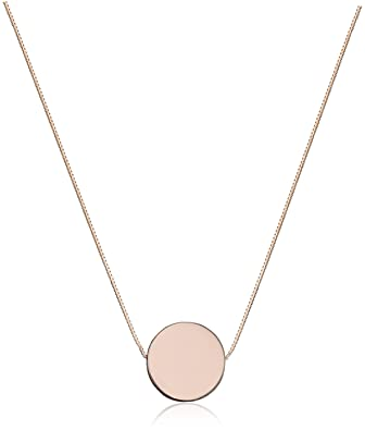 Amazon 14k rose gold floating circle pendant necklace 17 jewelry 14k rose gold floating circle pendant necklace 17quot aloadofball Image collections