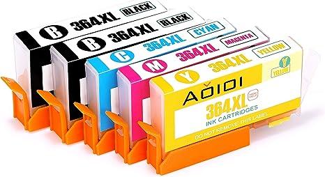 Aoioi 364XL Cartuchos de tinta Compatible para HP 364 con HP ...