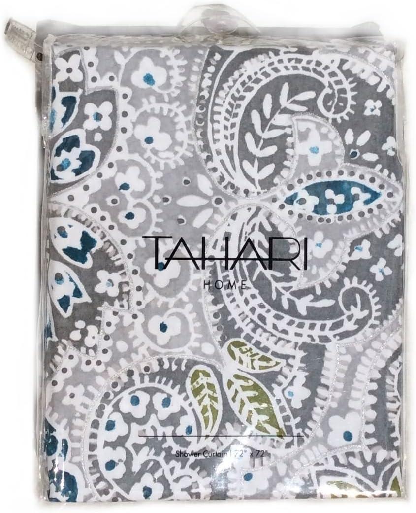 Tahari Shower Curtain Mica Paisley Medallion Print