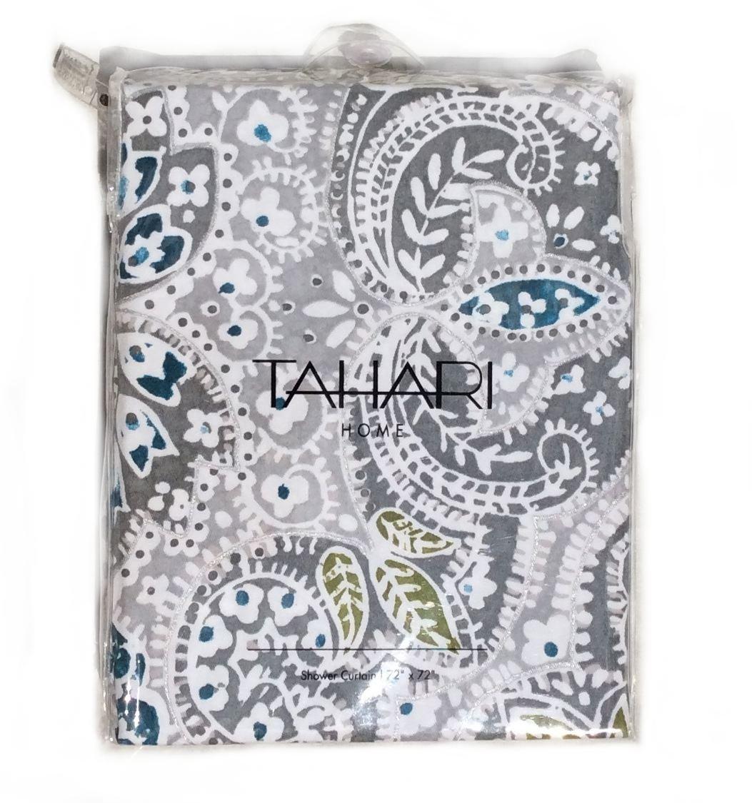Tahari shower curtains - Amazon Com Tahari Shower Curtain Mica Paisley Medallion Print By Tahari Home Kitchen