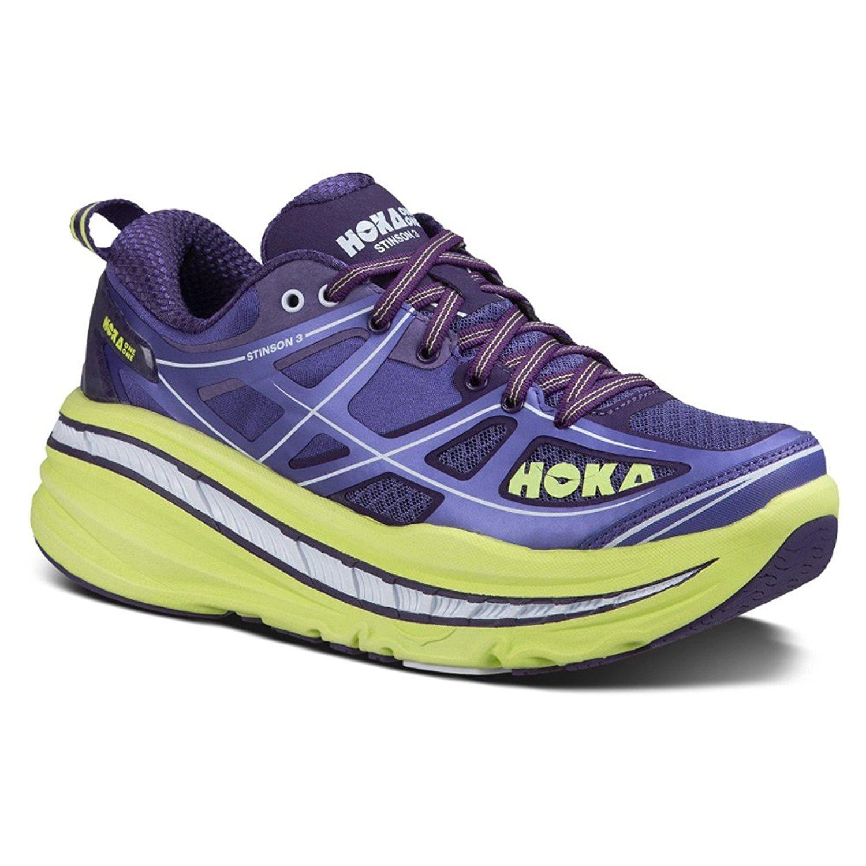 HOKA ONE ONE Womens Stinson 3 Running Shoe B01MS186TQ 5.5 B(M) US|Corsican Blue / Sunny Lime