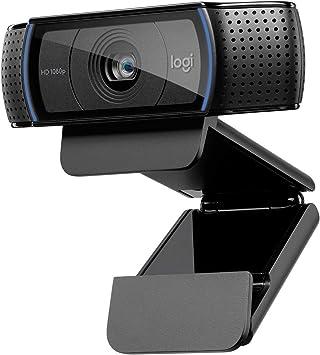 Todo para el streamer: Logitech C920 HD Pro Webcam, Videoconferencias 1080P FULL HD 1080p/30 fps, Sonido Estéreo, Corrección de Iluminación HD, Skype/Google Hangouts/FaceTime, Para Gaming, Portátil/PC/Mac/Android