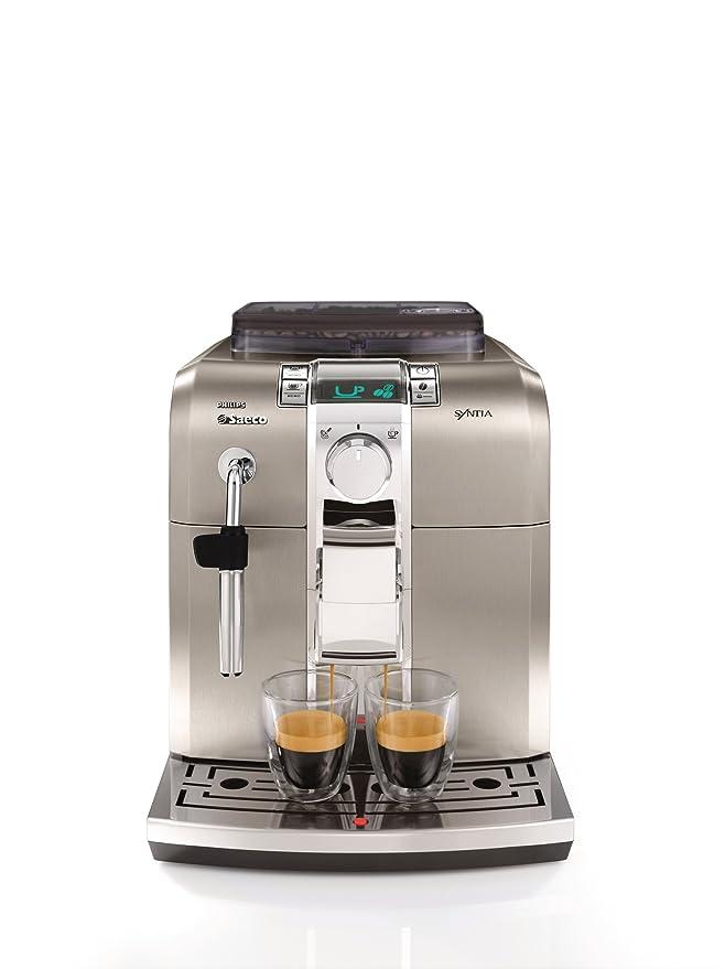 Saeco Syntia - Cafetera espresso automática, color gris