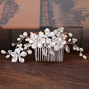 Handmade Bride Comb Wedding Bridal Accessories Pearl Flower Decoration Headwear
