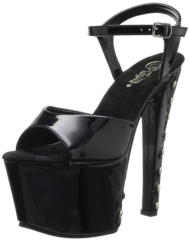 Pleaser Women's Sky-309FH-06 Platform Sandal B0044CZ2R6 5 B(M) US|Black/Red