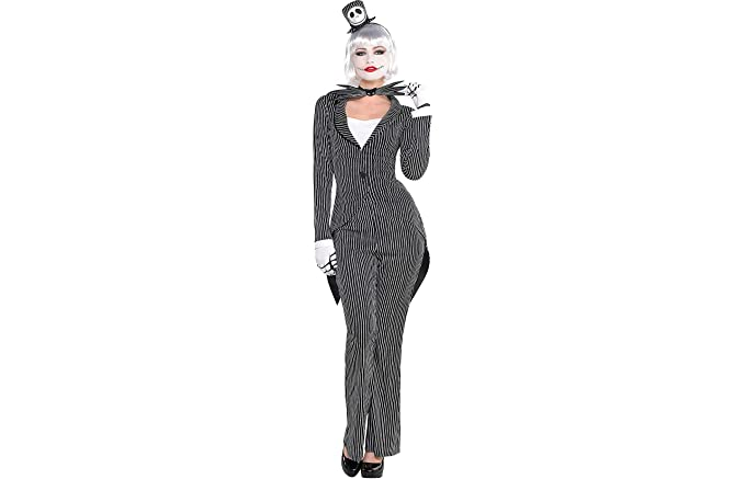 party city the nightmare before christmas jack skellington halloween costume for women small with