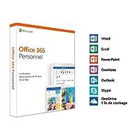Microsoft Office 365 Personnel   1 utilisateur   1 an   PC ou Mac   téléchargement (envoi par la poste)