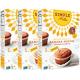 Simple Mills Banana Muffin Mix, 9 Ounce Box, 3 Count