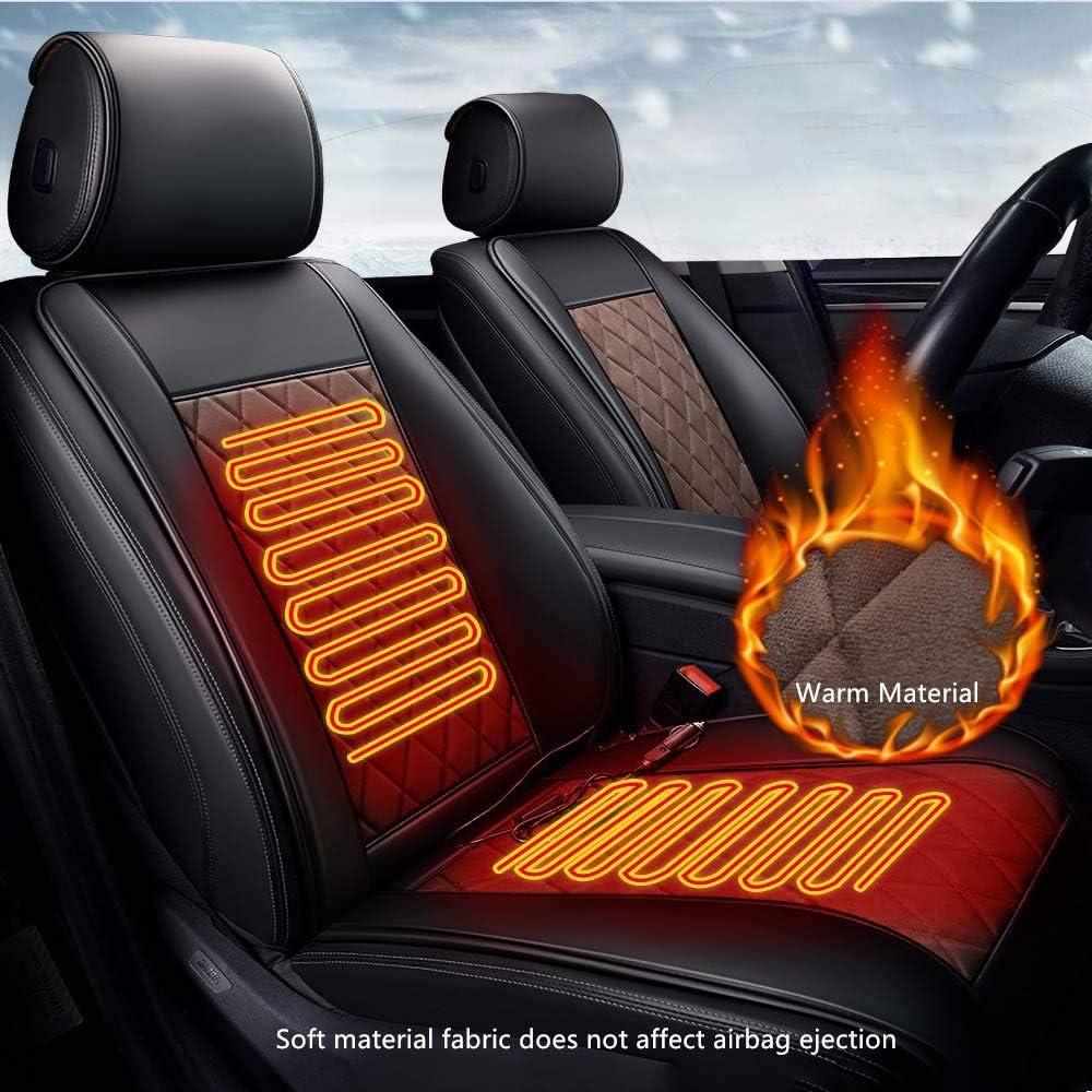 Black Coffee,Single Connector Auto Sitzheizung Heizkissen Winter beheizt warm hoch niedrig Temperatur 12V beheizter Sitzbezug Heizung sicher und sch/ützen Sie Ihre Taille