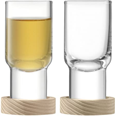 60 ml LSA International Utility Vodka Glass and Ash Coaster Set of 2 Clear
