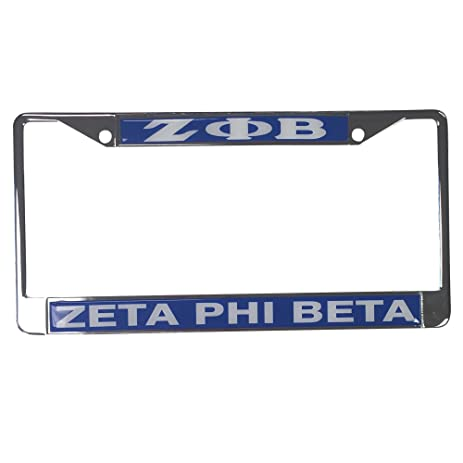 Amazon.com: Zeta Phi Beta Standard Letters/Name Silver License Plate ...