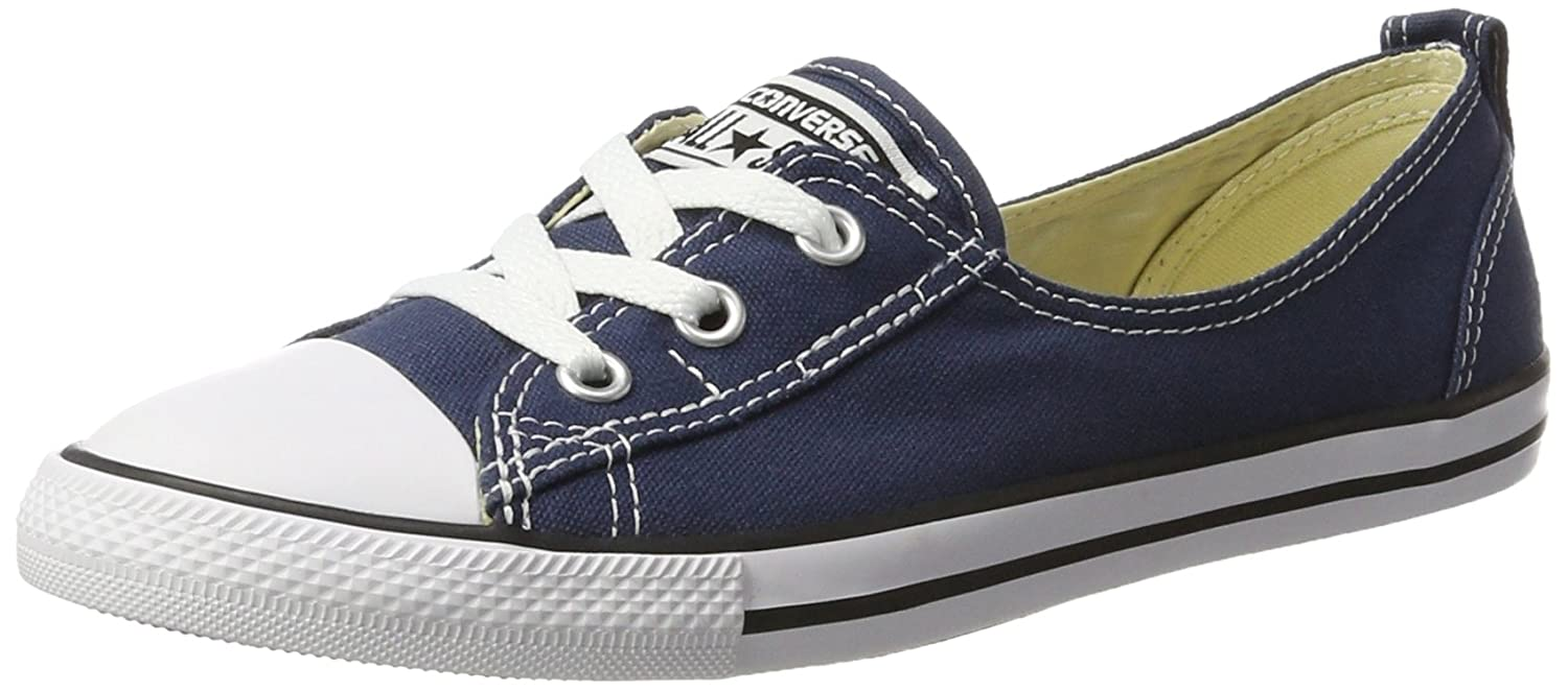 bc0b5258d74f58 Converse Women s Ctas Ballet Lace Navy Slip on Trainers  Amazon.co ...