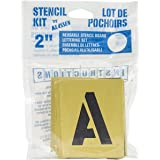 decorcal 2sk reusable stencil lettering kit 2 inchpackaging may vary