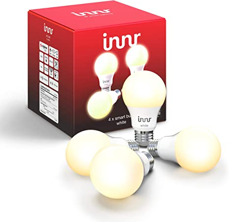 Innr Smart Bulb White A19 Works With Philips Hue Smartthings Alexa Google Home Hub Required Dimmable Warm White Led Light Bulb 60w Equivalent