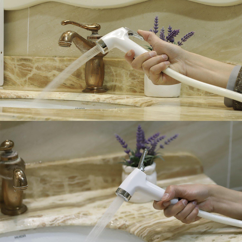 by CLEESINK Hand Held Bidet Sprayer Bathroom Toilet Set Cloth Diaper Sprayer Cleaning for Toilet Hand Held Toilet Sprayer for Self Cleaning Stainless Steel Standard Sprayer