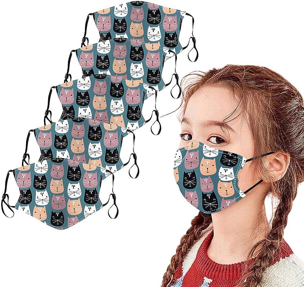Cartoons Wiederverwendbarer waschbarer Multifunktionsstoff Verstellbarer winddichter Zahnschutz f/ür Gesichtsdekorationsschals