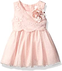 4a8d0f230 Sweet Heart Rose Baby Girls' Embroidered Pop-Over Bodice Special Occasion  Dress with Tulle