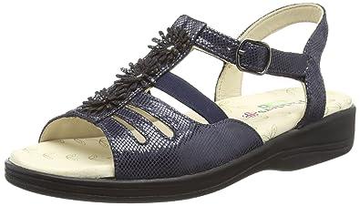 d65085055 Padders Plus Women s Sunrise Open Toe Sandals Blue (Navy Reptile 25) 3 (36