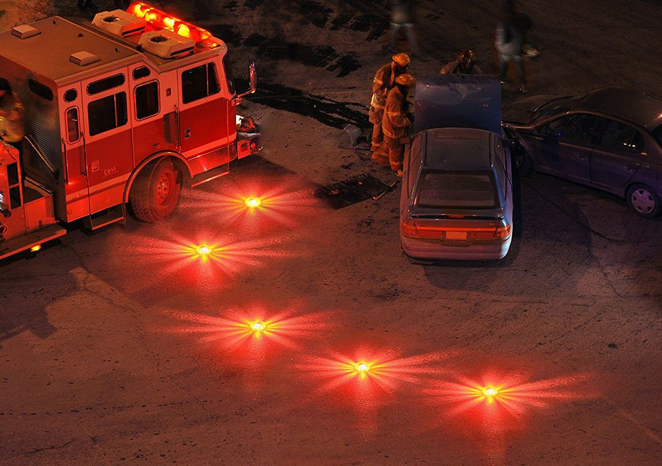 LED Road Flare Light, paquete de 3 LED de advertencia LED recargable Luz de emergencia del coche LED emergency light