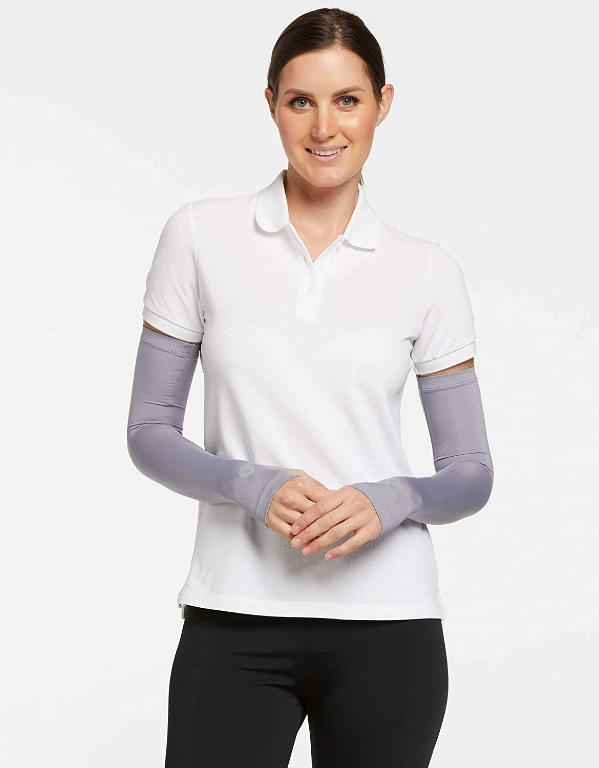 Solbari UPF50+ Sun Protective Cooling Arm Sleeves With Thumbholes at  Women's Clothing store