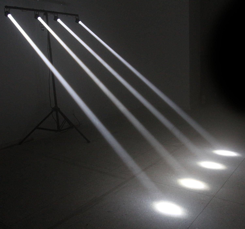 mountain ark white led beam pinspot light dj mirror