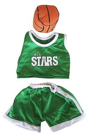 Stuffems Toy Shop Verde y Blanco del Baloncesto Traje Ajusta a la ...