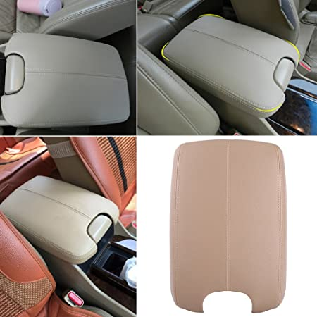 M-Egal Leather Armrest Box Cover Center Console Lid Cover Car Accessory for Honda Accord 2008-2012 Grey 31x22x6cm