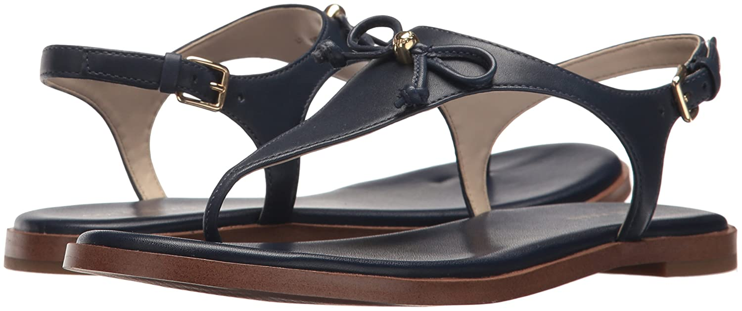 Womens Findra Thong II Flat Sandal, Rum Raisin Weave Leather, 7.5 B US Cole Haan