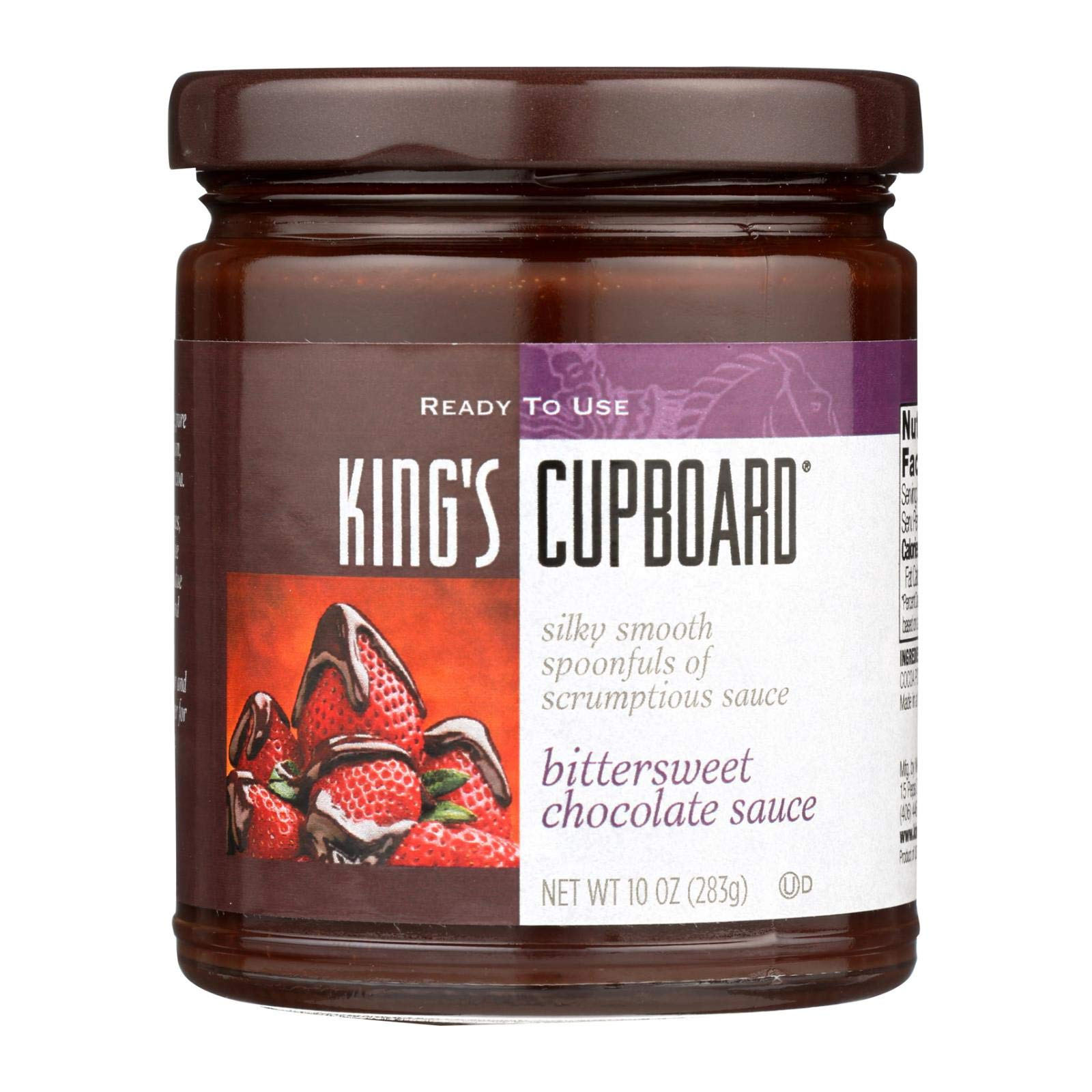 KINGS CUPBOARD Bittersweet Chocolate Sauce, 10 OZ by The King's Cupboard (Image #1)